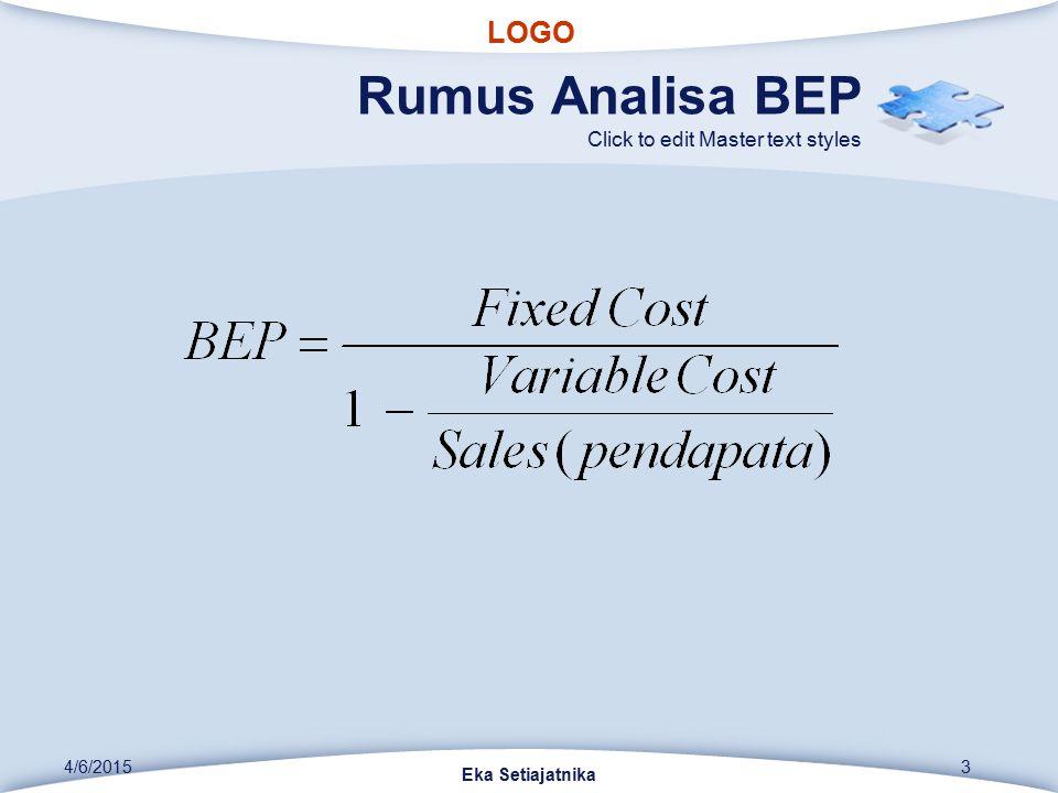Rumus Analisa BEP 4/9/2017 Eka Setiajatnika
