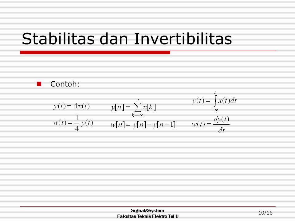 Stabilitas dan Invertibilitas