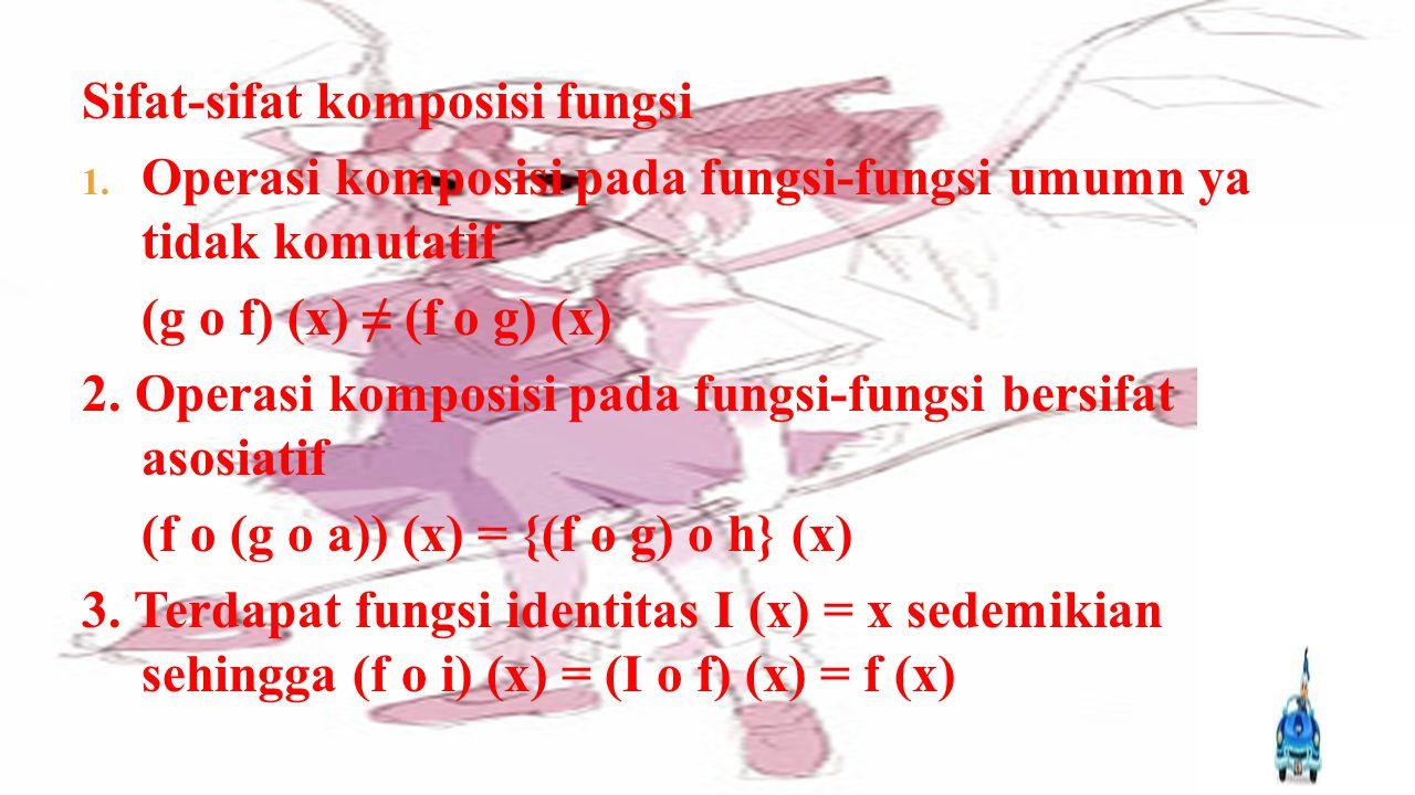 Sifat-sifat komposisi fungsi