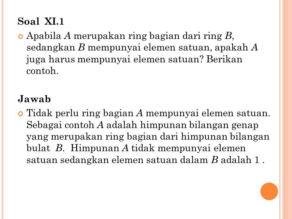 Soal XI.1