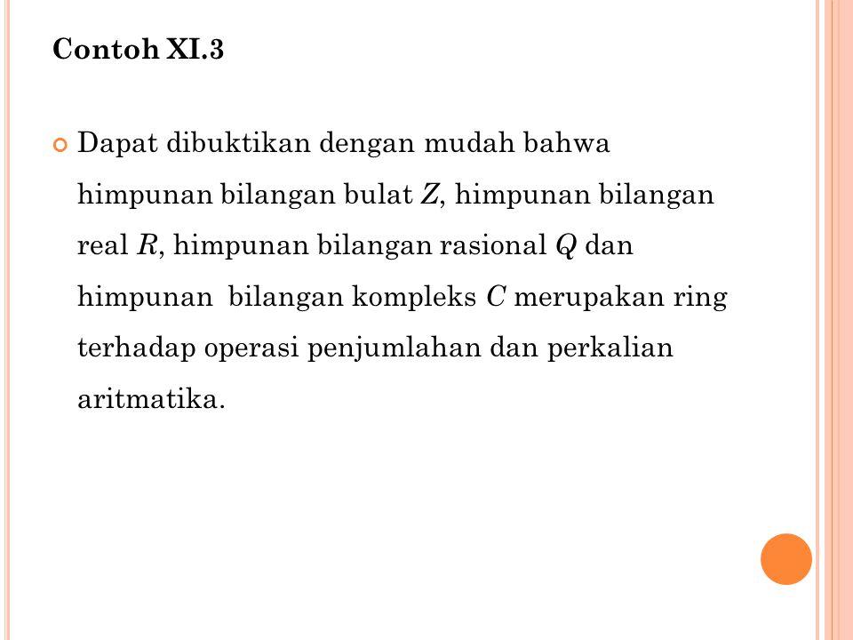 Contoh XI.3