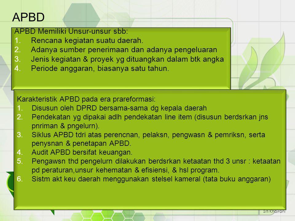 APBD APBD Memiliki Unsur-unsur sbb: Rencana kegiatan suatu daerah.
