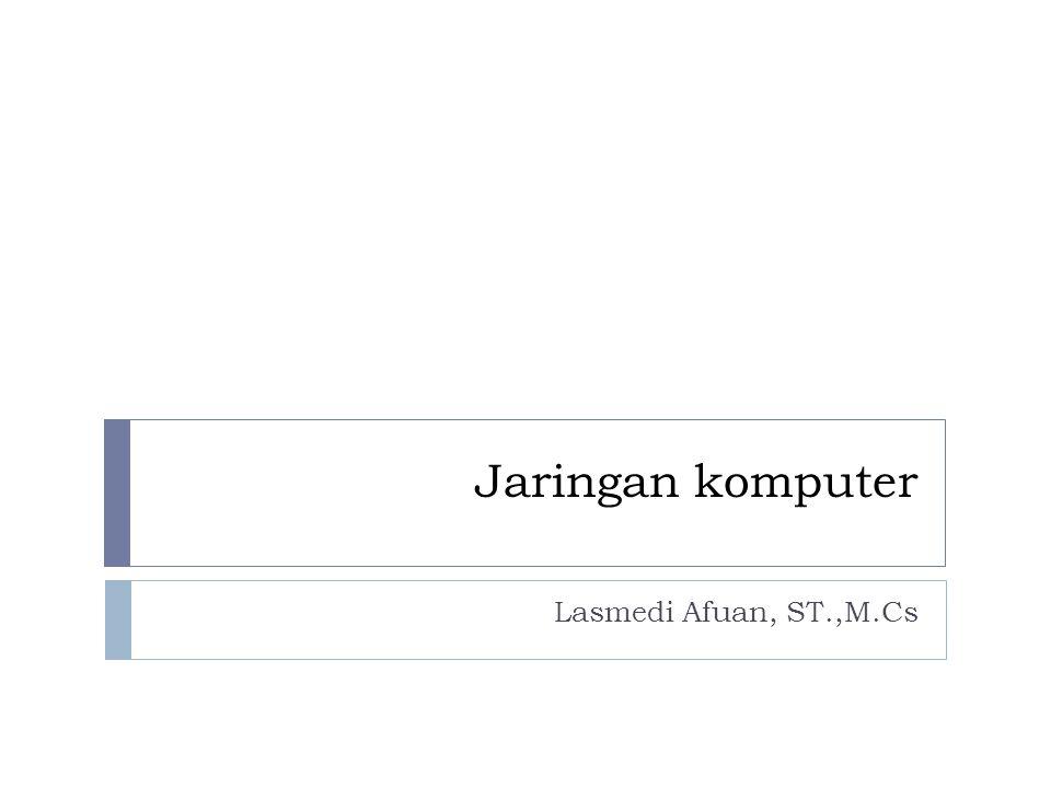 Jaringan komputer Lasmedi Afuan, ST.,M.Cs