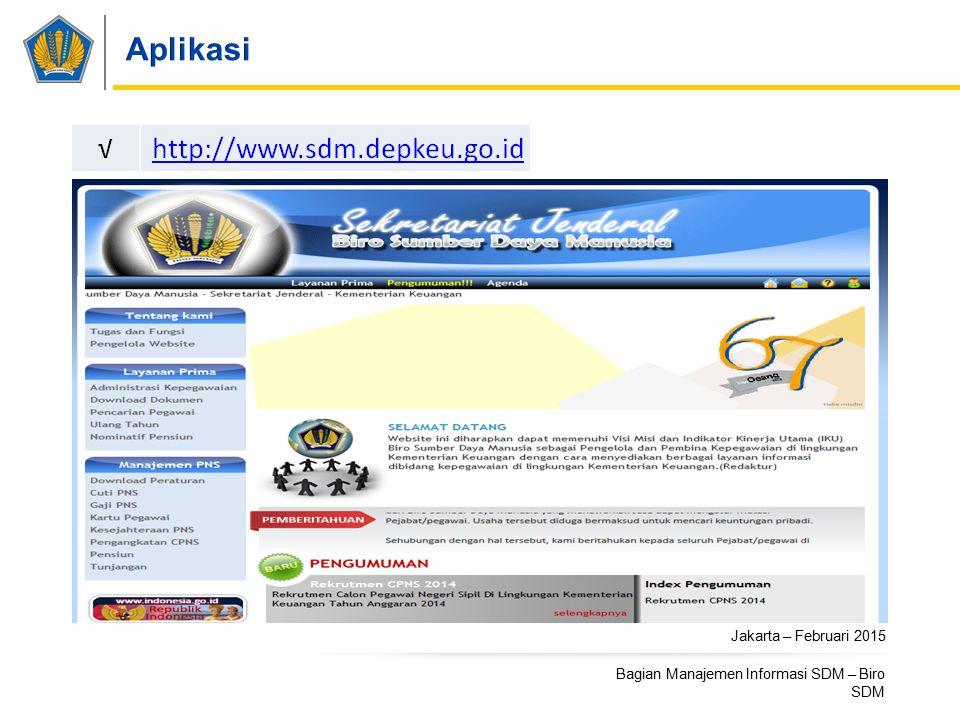 Aplikasi Jakarta – Februari 2015