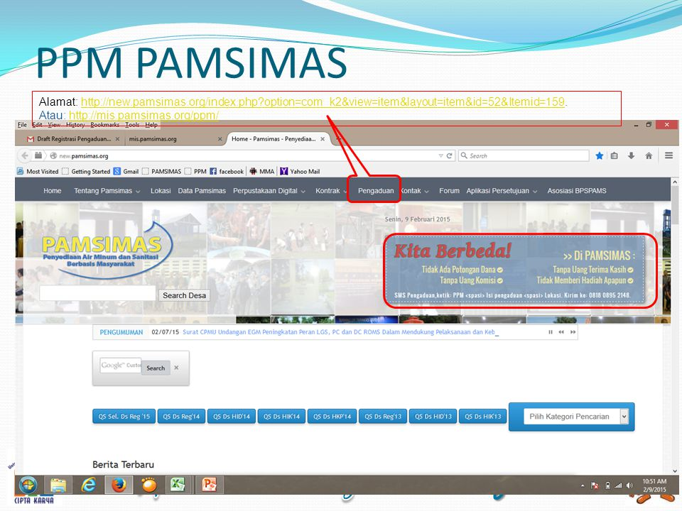 PPM PAMSIMAS Alamat: http://new.pamsimas.org/index.php option=com_k2&view=item&layout=item&id=52&Itemid=159.