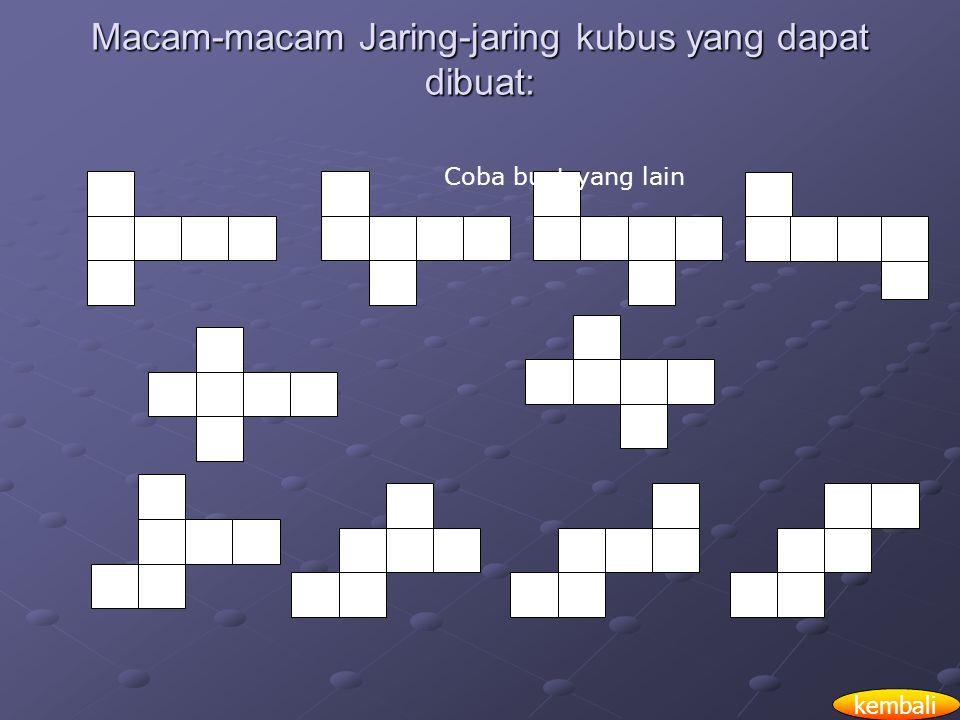 Macam-macam Jaring-jaring kubus yang dapat dibuat: