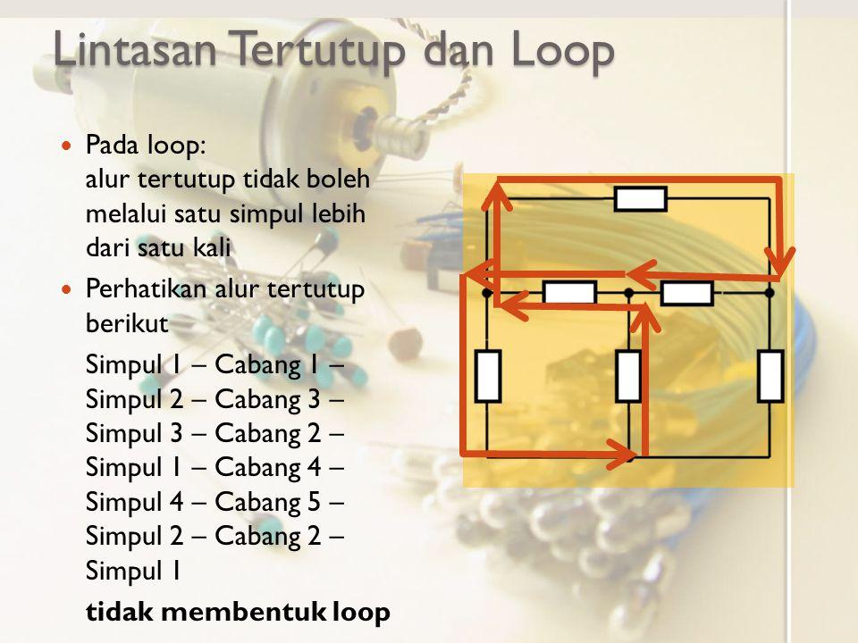 Lintasan Tertutup dan Loop