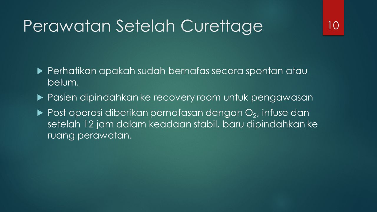 Perawatan Setelah Curettage