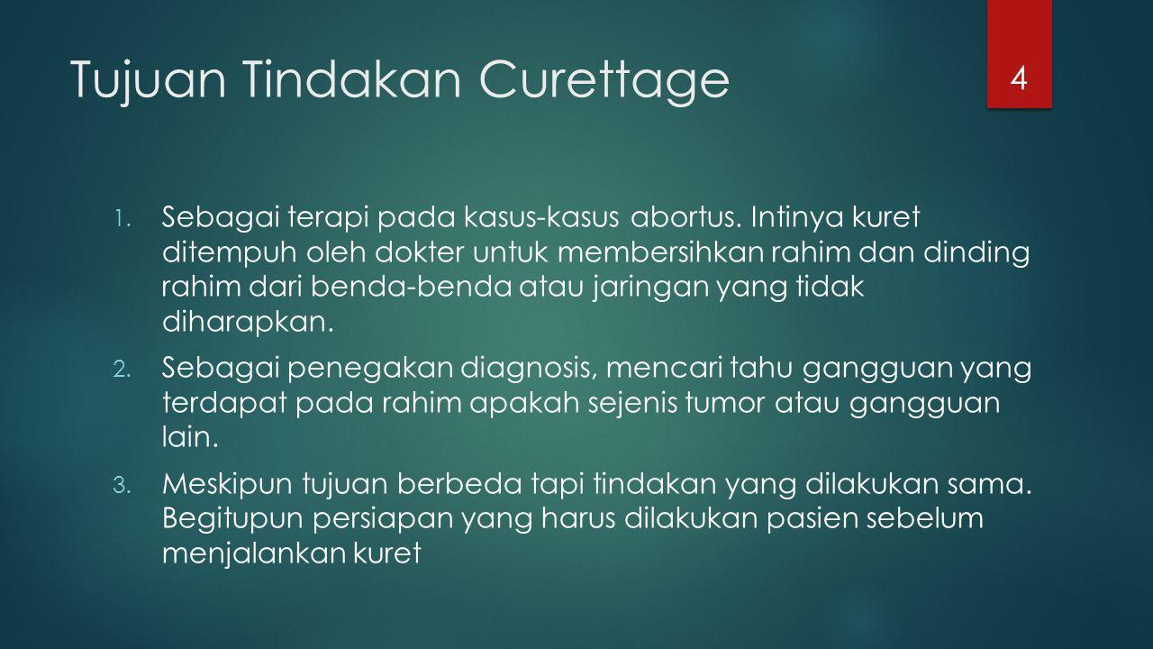 Tujuan Tindakan Curettage