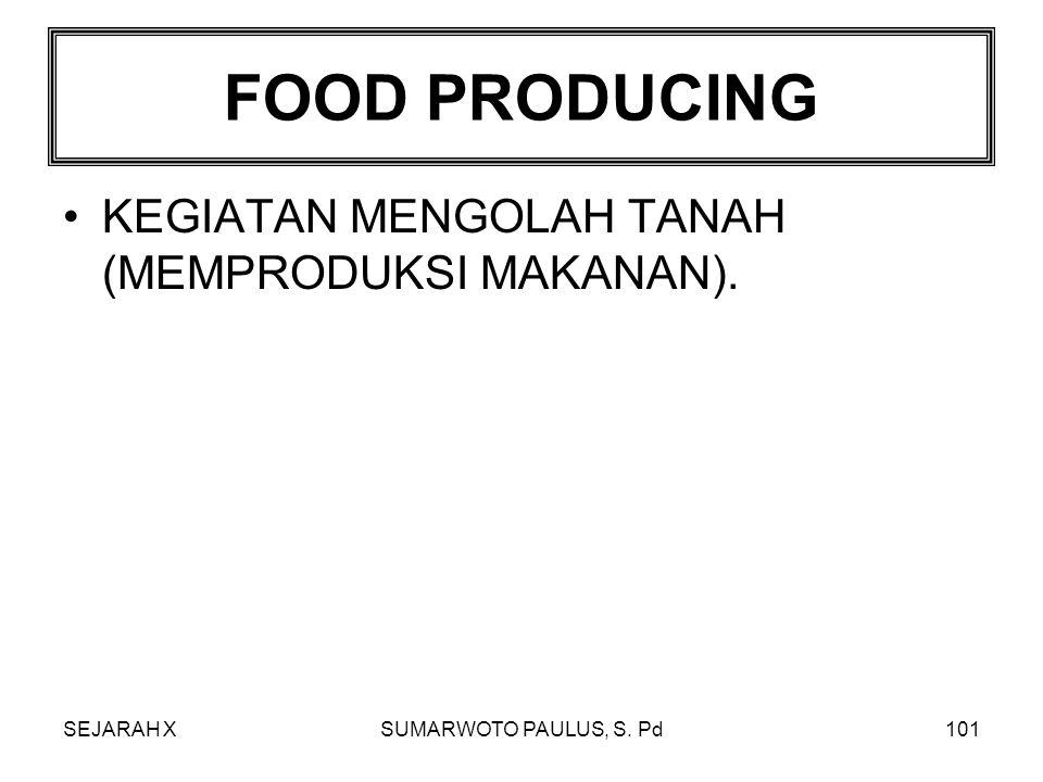 FOOD PRODUCING KEGIATAN MENGOLAH TANAH (MEMPRODUKSI MAKANAN).