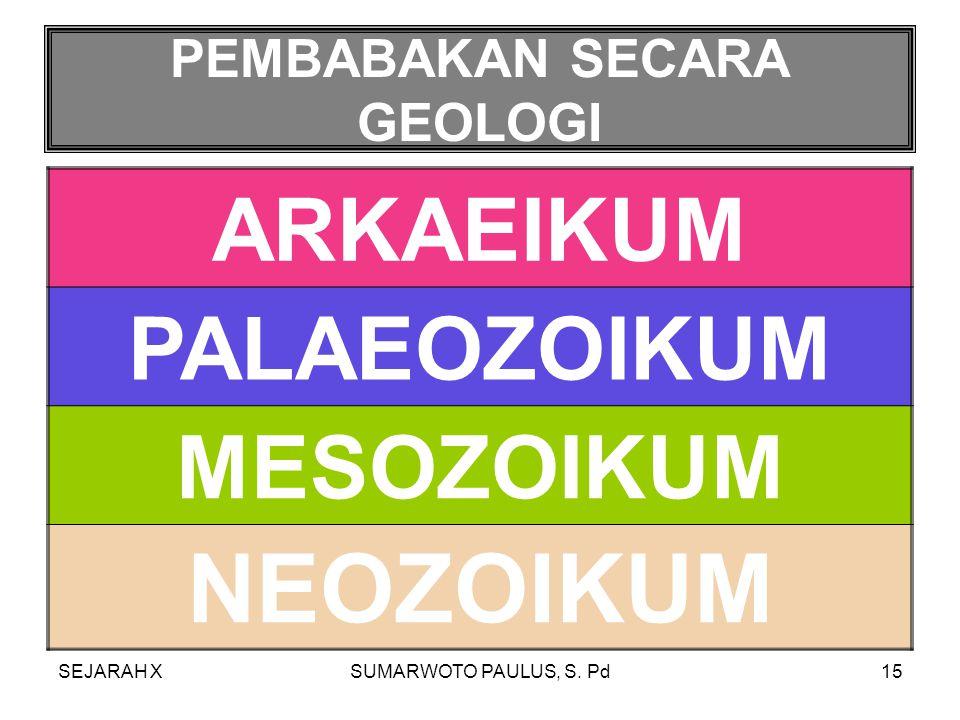 PEMBABAKAN SECARA GEOLOGI