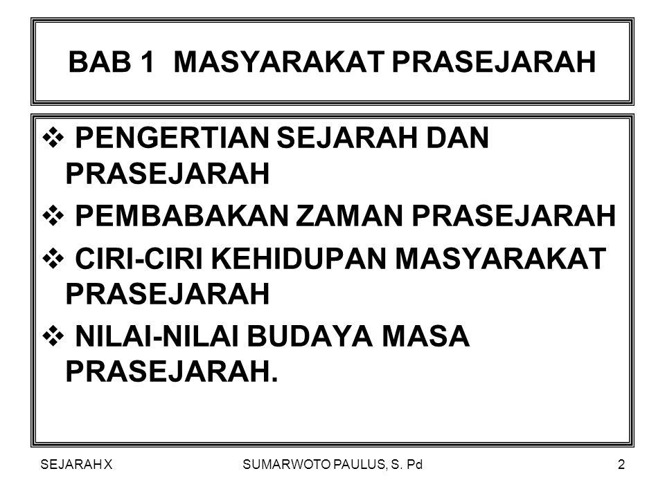 BAB 1 MASYARAKAT PRASEJARAH