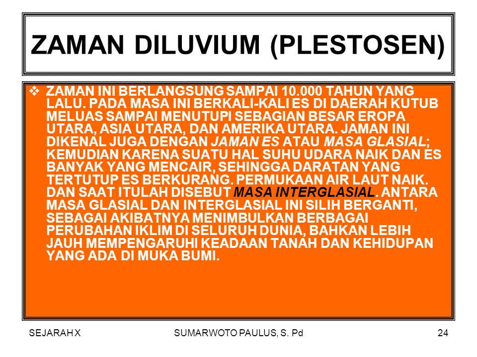 ZAMAN DILUVIUM (PLESTOSEN)