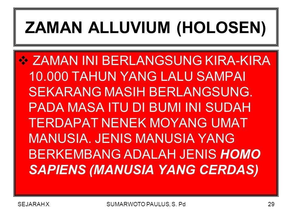 ZAMAN ALLUVIUM (HOLOSEN)