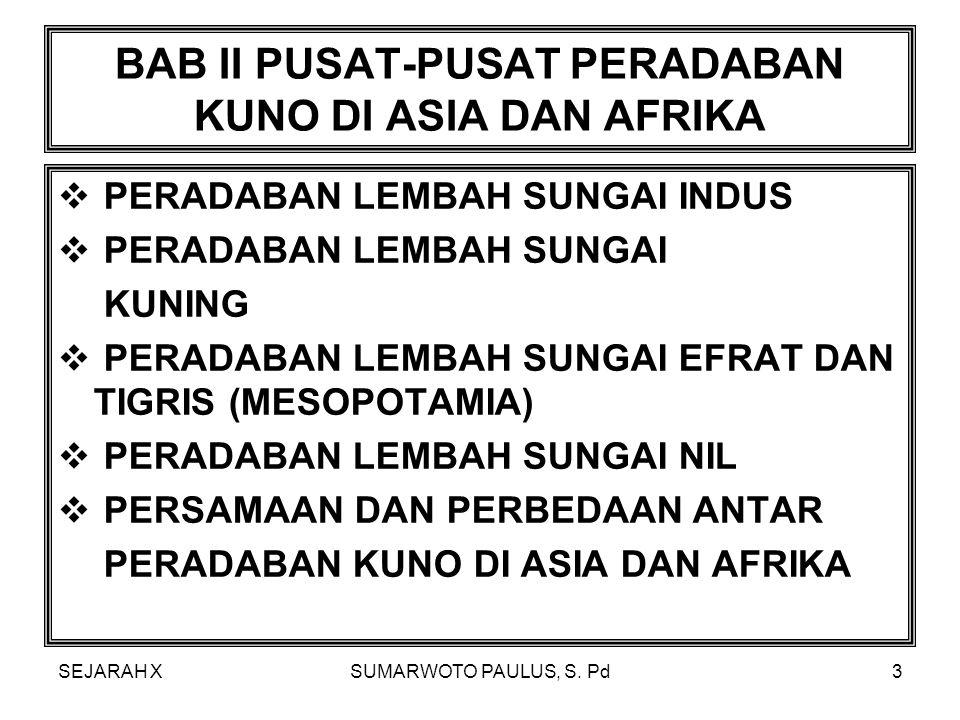 BAB II PUSAT-PUSAT PERADABAN KUNO DI ASIA DAN AFRIKA