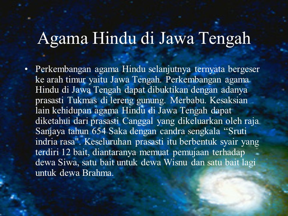 Agama Hindu di Jawa Tengah
