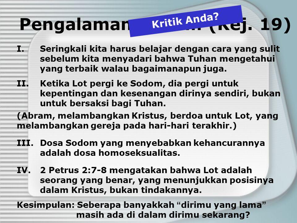 Pengalaman Sodom (Kej. 19)