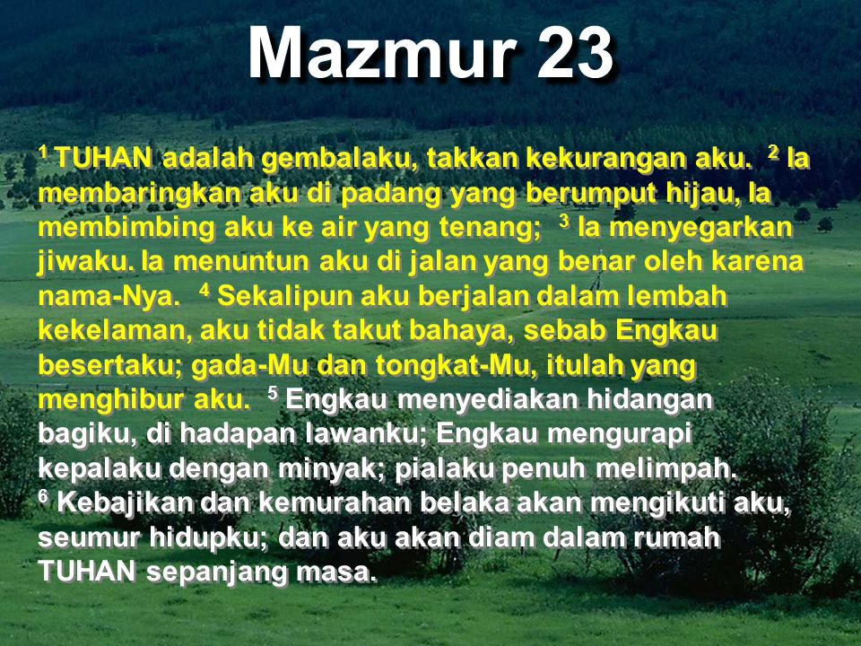 Mazmur 23