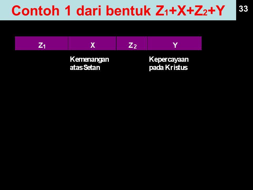 Contoh 1 dari bentuk Z1+X+Z2+Y