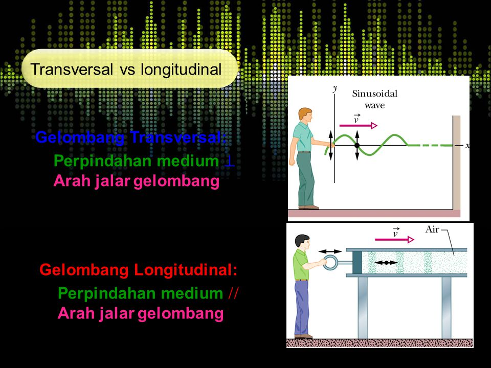 Transversal vs longitudinal