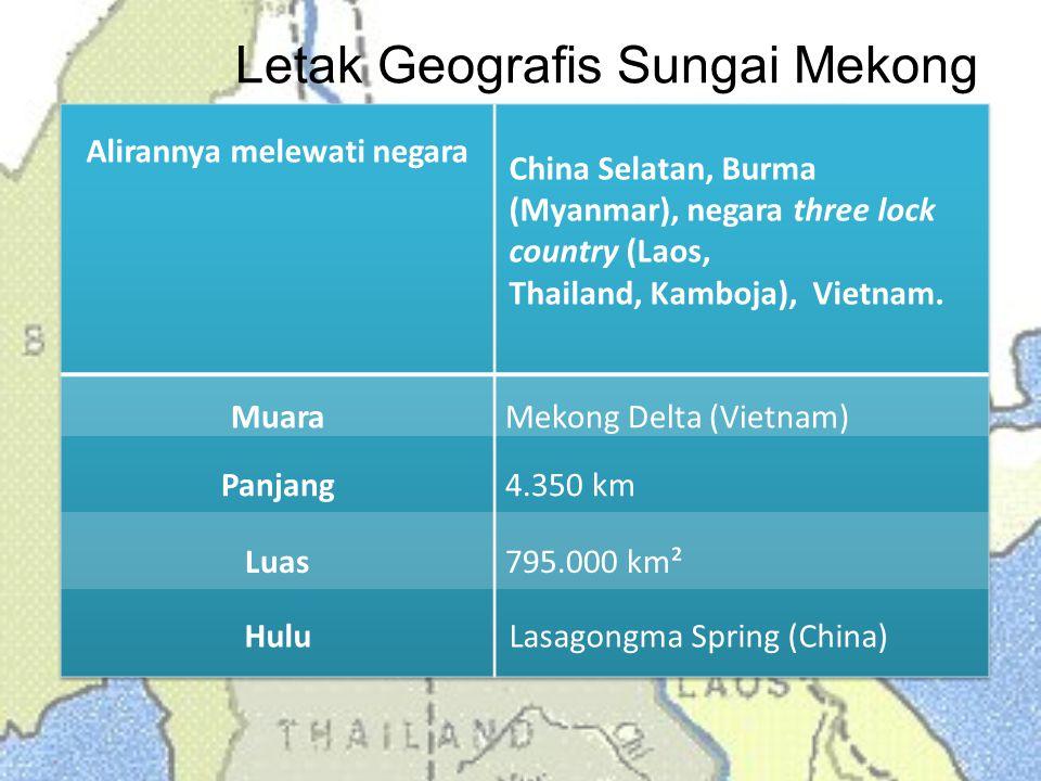 Letak Geografis Sungai Mekong
