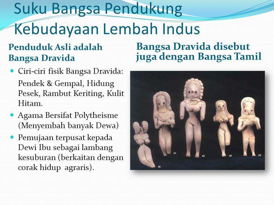 Suku Bangsa Pendukung Kebudayaan Lembah Indus