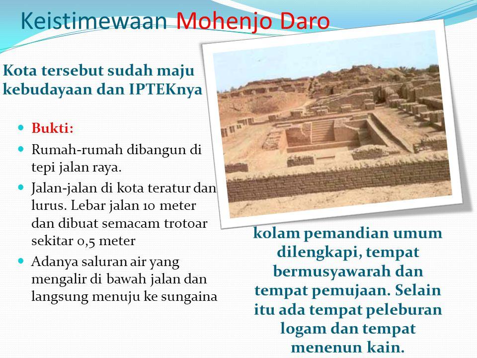 Keistimewaan Mohenjo Daro