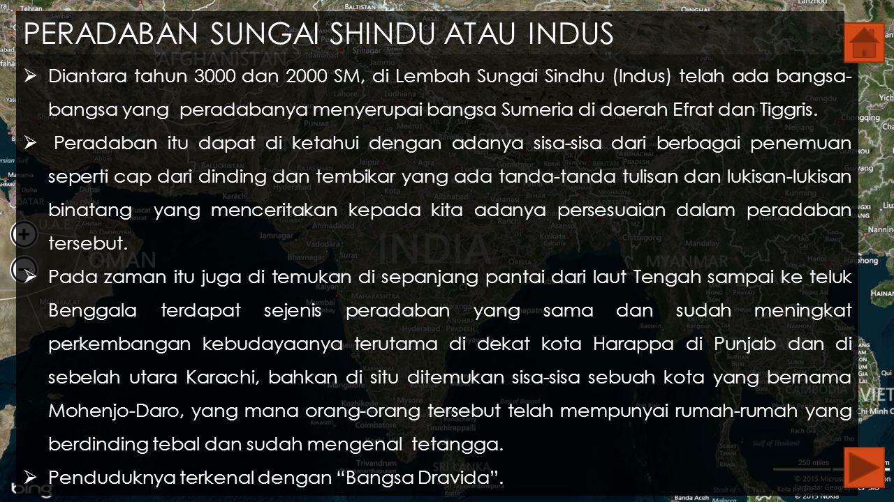 PERADABAN SUNGAI SHINDU ATAU INDUS