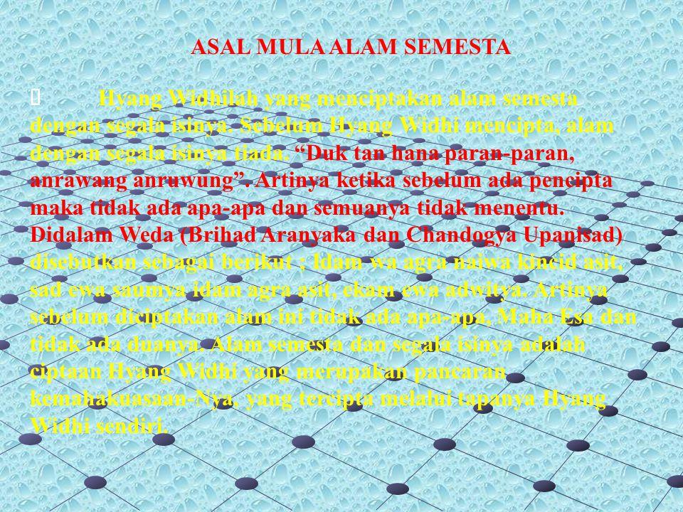 ASAL MULA ALAM SEMESTA