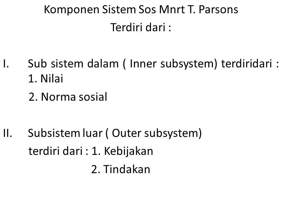 Komponen Sistem Sos Mnrt T. Parsons