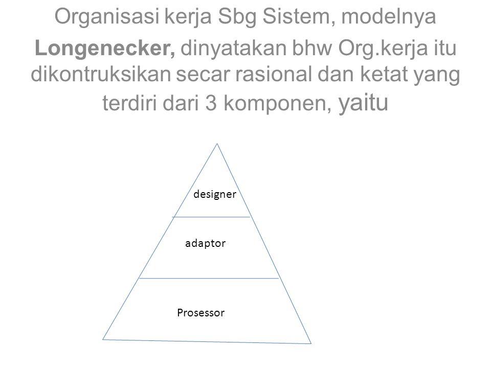 Organisasi kerja Sbg Sistem, modelnya