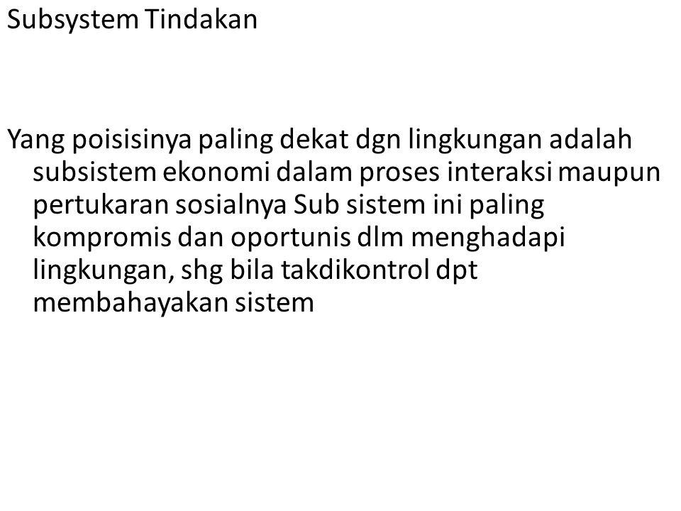 Subsystem Tindakan
