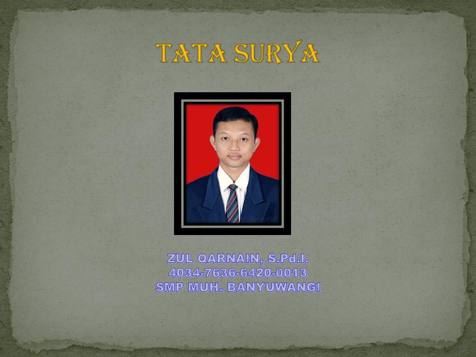 Tata surya ZUL QARNAIN, S.Pd.I. 4034-7636-6420-0013