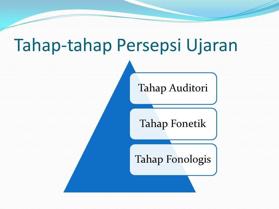 Tahap-tahap Persepsi Ujaran