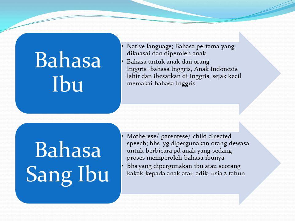 Bahasa Ibu Bahasa Sang Ibu