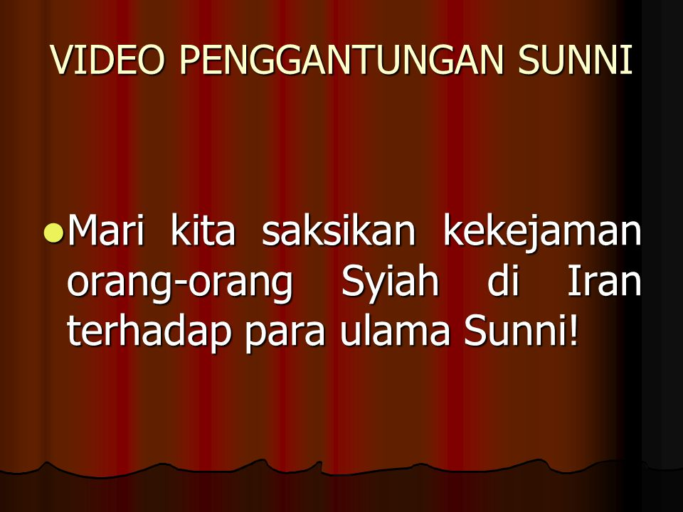 VIDEO PENGGANTUNGAN SUNNI