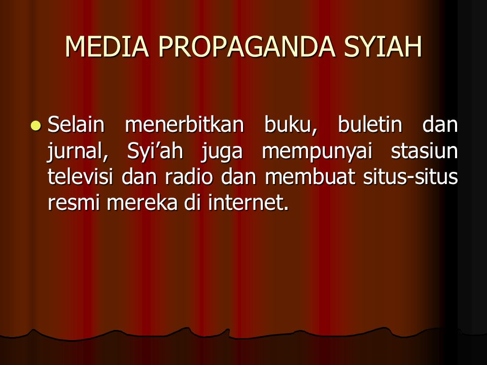 MEDIA PROPAGANDA SYIAH