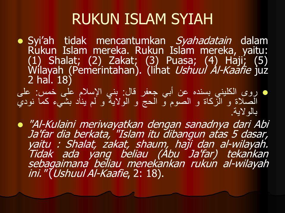 RUKUN ISLAM SYIAH