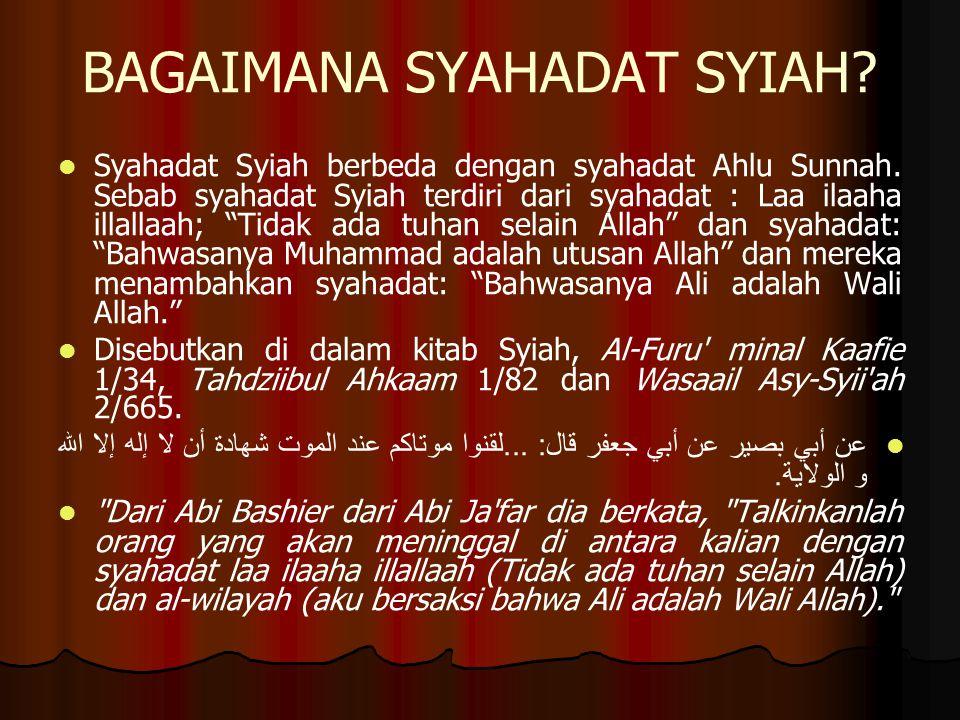 BAGAIMANA SYAHADAT SYIAH