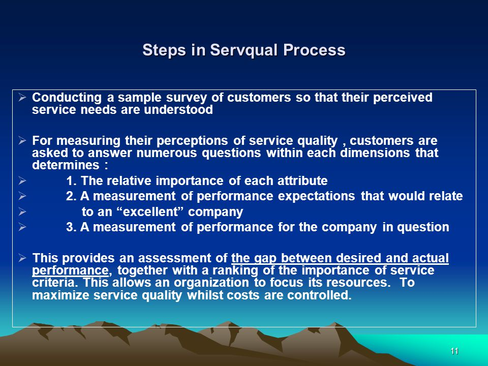 Steps in Servqual Process