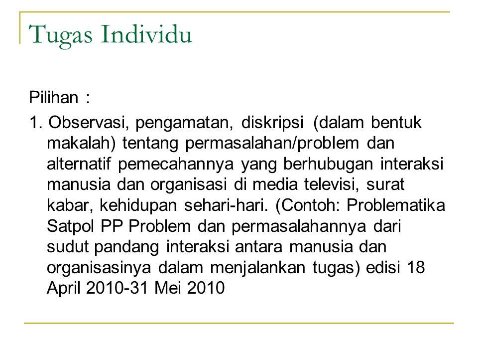 Tugas Individu Pilihan :