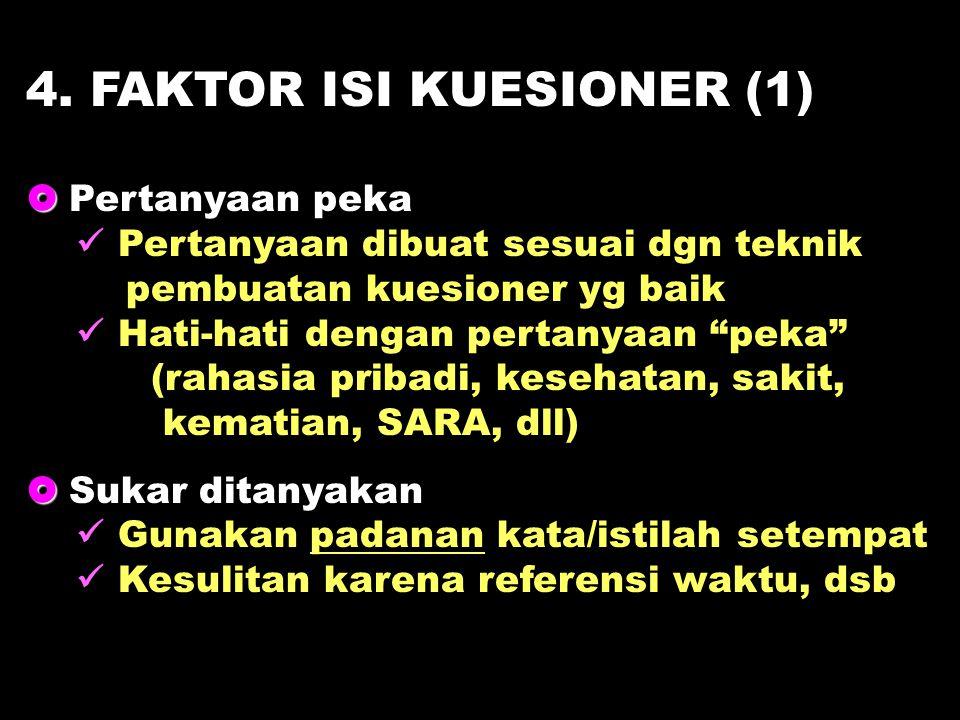 4. FAKTOR ISI KUESIONER (1)