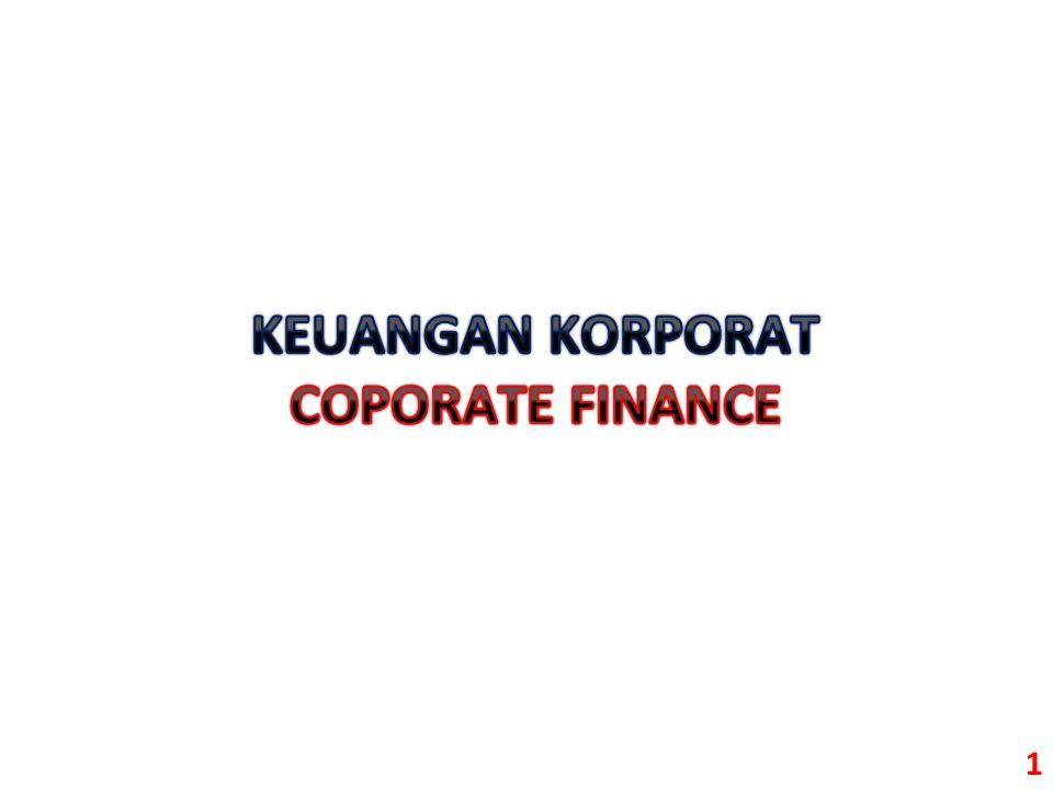 KEUANGAN KORPORAT COPORATE FINANCE