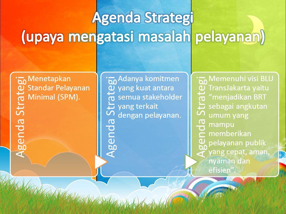 Agenda Strategi (upaya mengatasi masalah pelayanan)