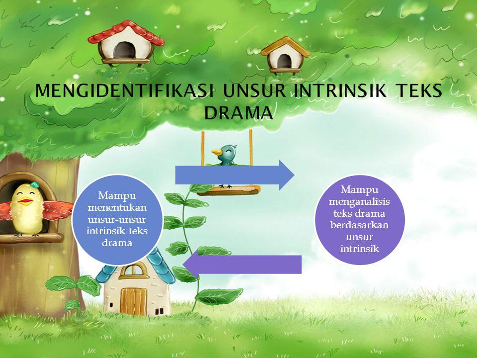 mengidentifikasi unsur intrinsik teks drama
