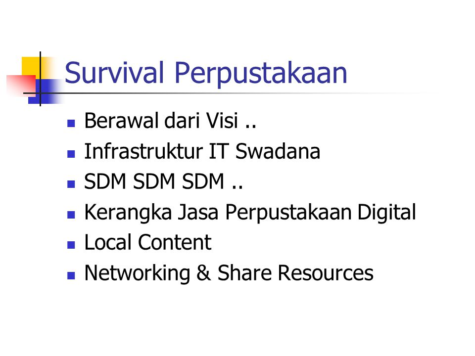 Survival Perpustakaan