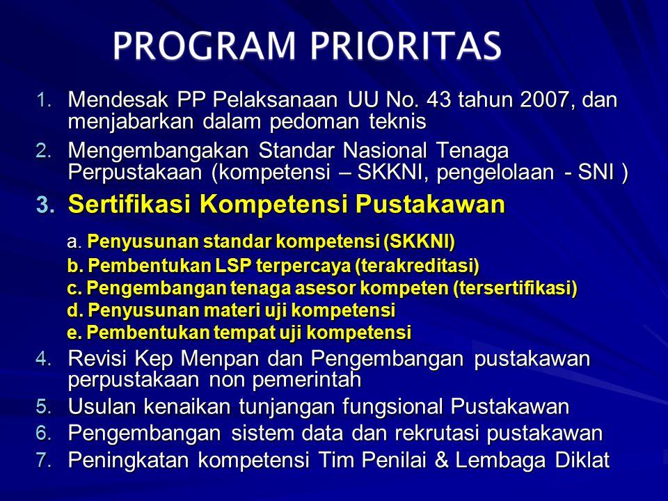 a. Penyusunan standar kompetensi (SKKNI)