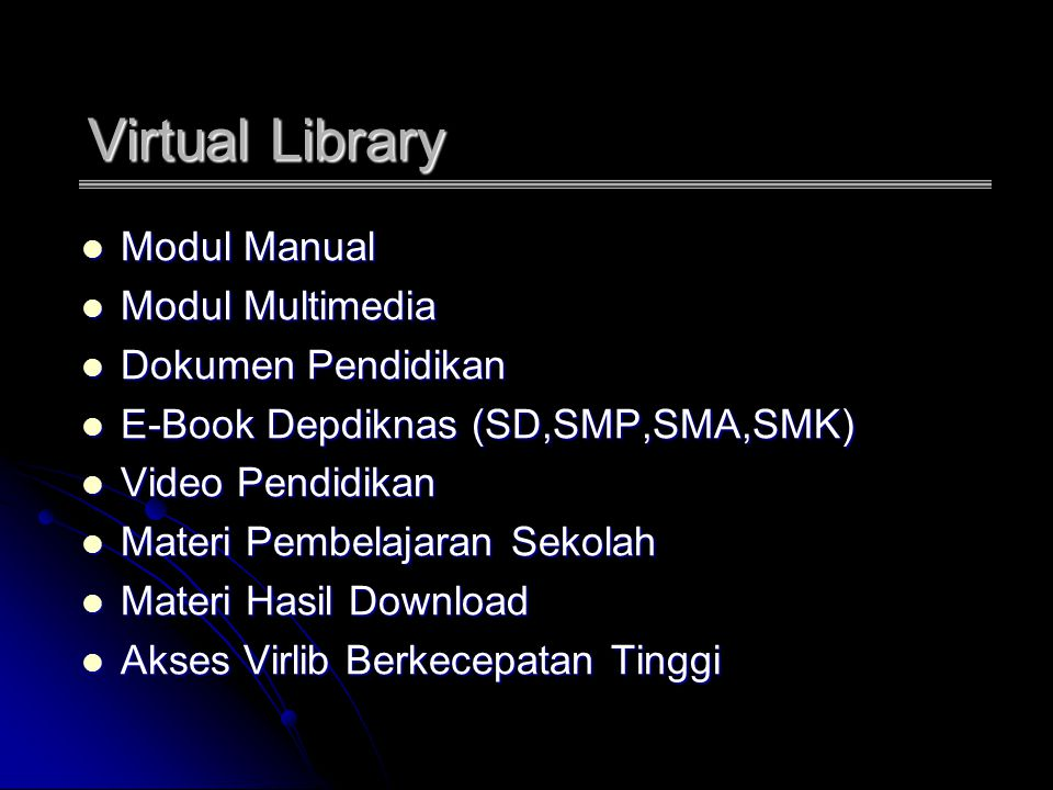 Virtual Library Modul Manual Modul Multimedia Dokumen Pendidikan