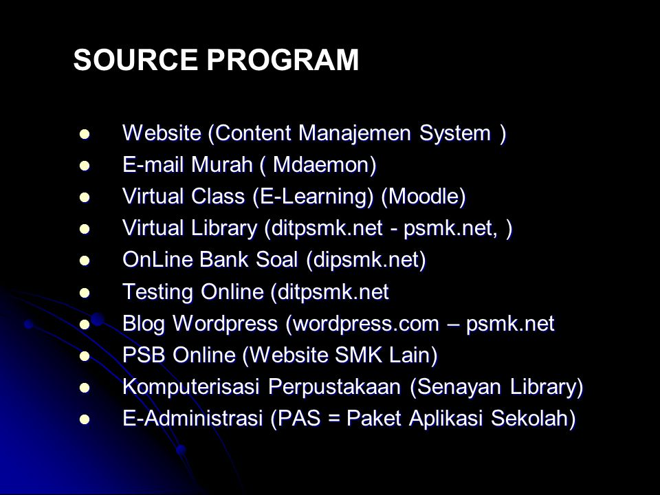 SOURCE PROGRAM Website (Content Manajemen System )