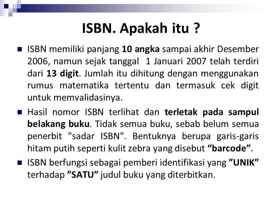 ISBN. Apakah itu